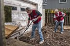 Lowe's Heroes helped homeowners clean up and clear their property after catastrophic flooding in Illinois and Colorado. (PRNewsFoto/Lowe's Companies, Inc.)