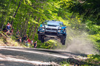 David Higgins flew his WRX STI to the top of the podium at New England Forest Rally.