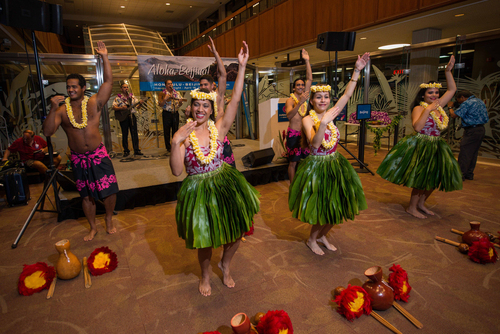 Hawaiian Airlines launched inaugural service between Honolulu and Beijing, the airlines first destination in mainland China. (PRNewsFoto/Hawaiian Airlines )