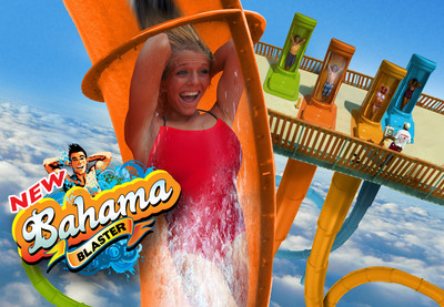 New BAHAMA BLASTER Free-Fall Thrill Slides Coming to Six Flags Fiesta Texas Summer 2014