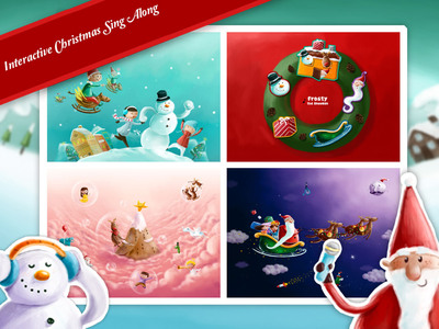 Jolly Jingle is an interactive sing-along app that will teach children timeless Christmas carols. It's a perfect way to have children experience the joy of Christmas, while singing and clicking to reveal hidden treasures. A fun app for both children and parents!  (PRNewsFoto/Hompimplay)