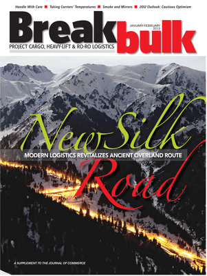 Centuries ago, the ancient Silk Road connected China to East Asia and Europe and fundamentally changed the world. Today, expansion of the project cargo and heavy-lift transportation business is pushing a resurgence in this overland route's popularity. The current issue of Breakbulk Magazine examines economic and logistical arguments for moving goods from China into the European Union via road and rail.  (PRNewsFoto/UBM Global Trade)
