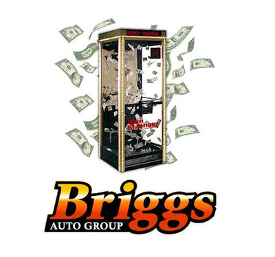 Consumers who purchase a vehicle from one of two Briggs locations will get the opportunity to enter the cash cube.  (PRNewsFoto/Briggs Auto Group)