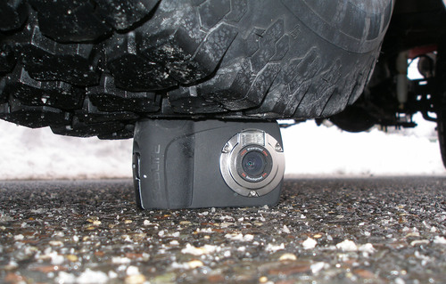 Waterproof, shockproof and crushproof, the SeaLife Mini II Dive & Sport digital camera is so tough, it can withstand being run over by an SUV.   (PRNewsFoto/SeaLife)