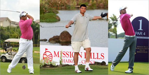 Sporting Legends Participated in The Mission Hills World Celebrity Pro-Am 2012.  (PRNewsFoto/Mission Hills ...
