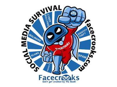 Facecrooks Social Media Survival Graphic.  (PRNewsFoto/Facecrooks)