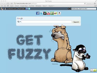 Get Fuzzy Safari Browser Theme.  (PRNewsFoto/Brand Thunder)