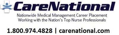 CareNational Healthcare Services-Nationwide Medical Management Recruitment and Career Consulting Services. carenational.com 800.974.4828.  (PRNewsFoto/CareNational Healthcare Services, LLC)