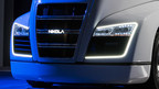 The Nikola One commercial truck utilizes a fully electric drivetrain powered by high-density lithium batteries.  Energy will be supplied on-the-go by a hydrogen fuel cell giving the Nikola One a range of 800 - 1,200 miles while delivering over 1,000 horsepower and 2,000 ft. lbs. of torque -  nearly double that of any semi-truck on the road.  It will be unveiled on December 1 in Salt Lake City.