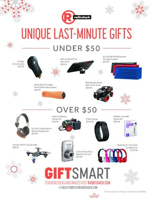 RadioShack has a wide array of unique gifts and last-minute additions that can turn a ho-hum holiday into an epic celebration.
