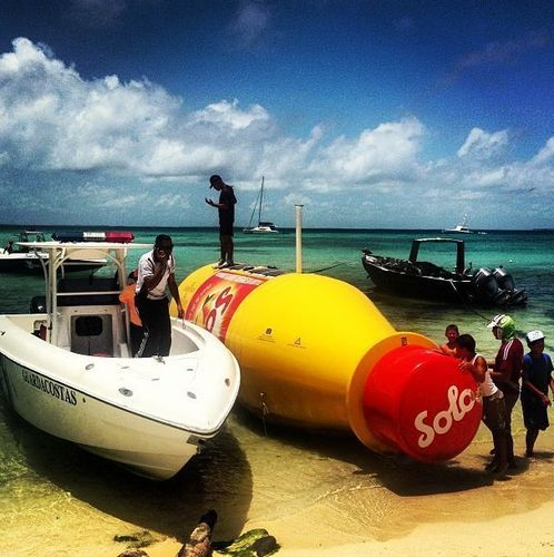 The story of the giant bottle has created a lot of interest in the Caribbean, and the 1500 inhabitants of the ...