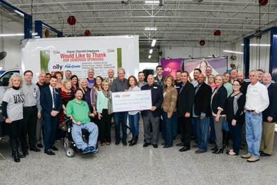 Tom and Susan Durant of Classic Chevrolet present donation of more than $180,000 to 10 local Dallas charities.