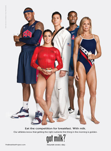 Milk Helps Fuel Carmelo Anthony, Kerron Clement, Steven Lopez, Aly Raisman and Dara Torres.  ...