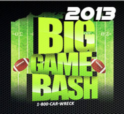 Win tickets to the 2013 Big Game Bash at 1800CarWreck.TV.  (PRNewsFoto/Eberstein & Witherite)