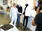 Ellen Degeneres looks at some of the pieces from her new lifestyle collection, ED by Ellen Degeneres, which launches today
