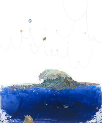"20"" x 24"" - Pam Longobardi, based on an original collage painting, ""Eye of the Ocean"" 2009, ed. 25, $1000.  (PRNewsFoto/Plastic Pollution Coalition)"