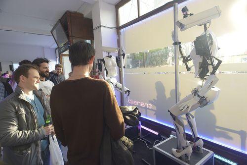 Pole dancing robots draw crowds to major London tech startup event (PRNewsFoto/TransIP.co.uk)