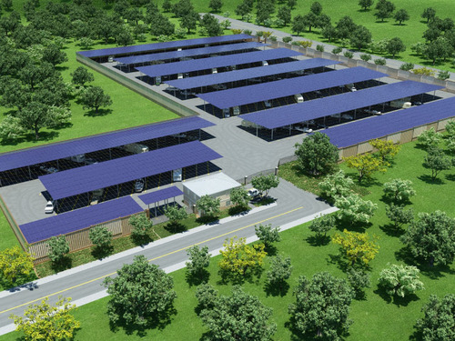 Oakley Solar Project.  (PRNewsFoto/Hayworth-Fabian, LLC)