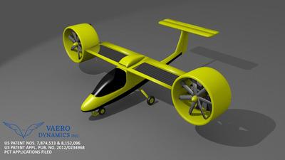 Vaero Dynamics VE-100 VTOL Electric Aircraft.  (PRNewsFoto/Vaero Dynamics Inc)