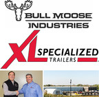 Bull Moose Industries announces purchase of XL Specialized Trailers.  Bull Moose Industries CEO Michael Blatz (left) and XL Specialized Trailers (right) featured (lower left).