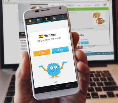 Lingua.ly's new mobile app for Android helps users learn a language from the open web. (PRNewsFoto/Lingua_ly)