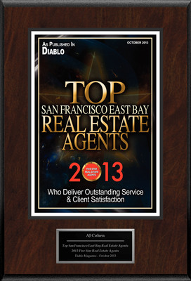 "AJ Cohen Selected For ""Top San Francisco East Bay Real Estate Agents."" (PRNewsFoto/American Registry) (PRNewsFoto/AMERICAN REGISTRY)"