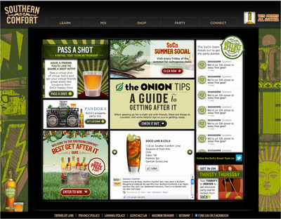 Southern Comfort Showcases Night Out Through Social Content Hub