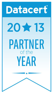 Datacert names Huron Legal its 2013 Partner of the Year for the significant contribution the firm made to Datacert's success in 2013.  (PRNewsFoto/Datacert, Inc.)