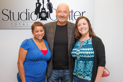 Studio Center On-Camera Talent Directors, Tiana Lopez and Genevieve Hayes-McBride, with actor Terry O'Quinn at Studio Center in Virginia Beach.
