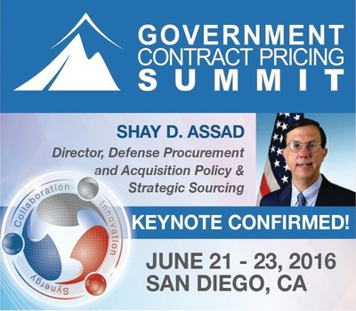 GCP Summit 2016 keynote speaker confirmed: Shay D. Assad, Director, Defense Procurement and Acquisition Policy & Strategic Sourcing for the U.S. Department of Defense.