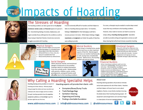 Address Our Mess' interactive Guide entitled Impacts of Hoarding for Hoarders and their Helpers.  (PRNewsFoto/Address Our Mess)