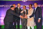 Glenmark personnel receiving the award from the Honourable Chief Minister of Madhya Pradesh - Shivraj Singh Chauhan