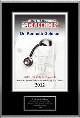 Dr. Kenneth Gelman is recognized among Castle Connolly's Top Doctors(R) for Cooper City, FL region.  (PRNewsFoto/American Registry)