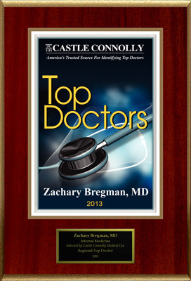 Dr. Zachary Bregman is recognized among Castle Connolly's Top Doctors(R) for New York, NY region in 2013.  (PRNewsFoto/American Registry)