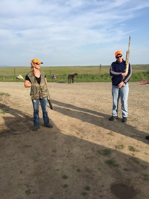 Injured service members prepare for a pheasant hunt.