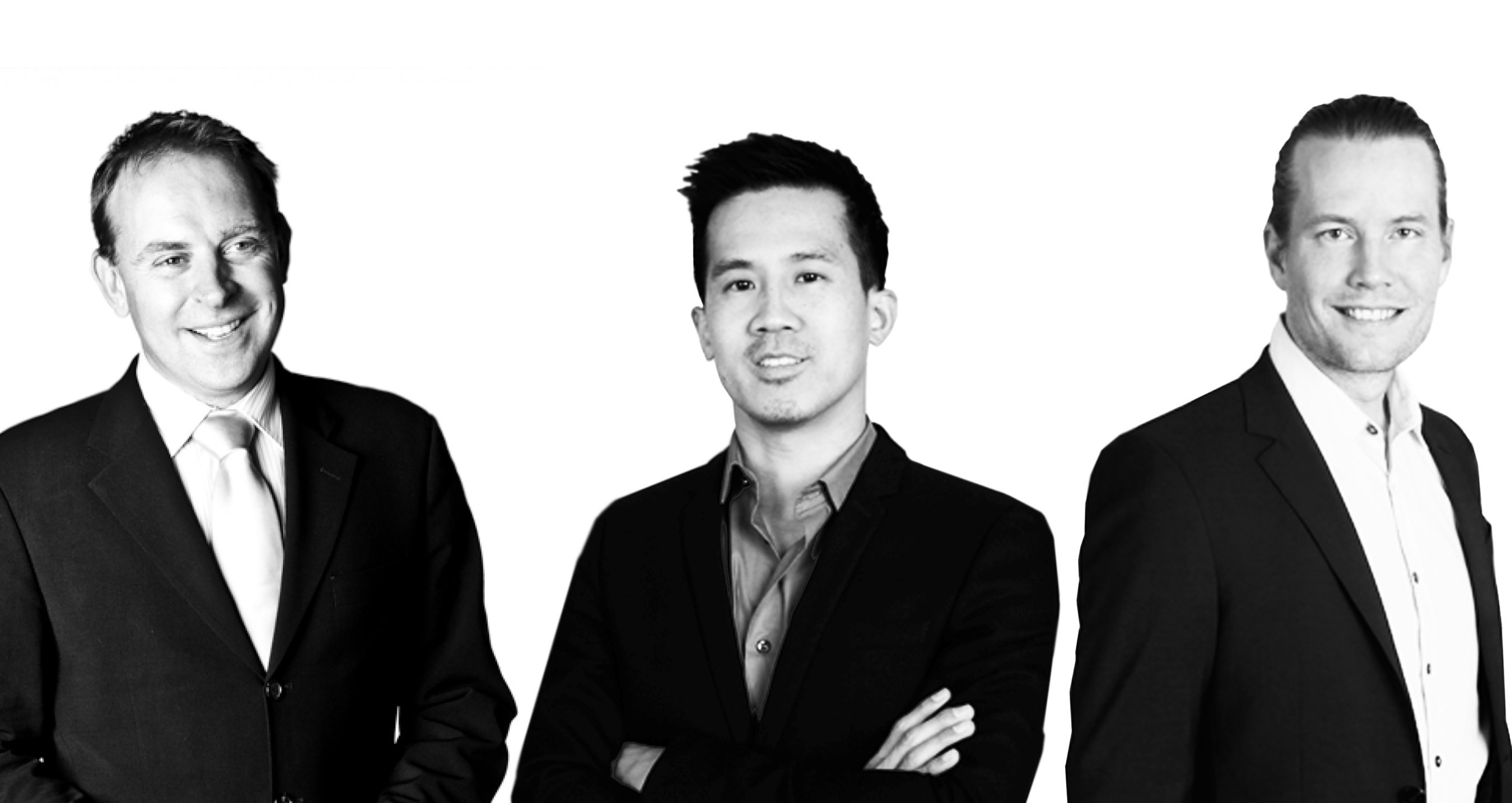 Market Tech Strategic Investment in glispa: Charles Butler CEO Market Tech Holdings (left), Gary Lin Founder & CEO glispa (center), Tim Nilsson Co-Founder & Managing Director (right)