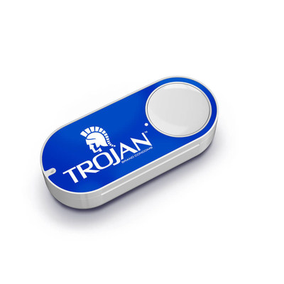Trojan(TM) Brand Condoms Makes Condom Buying as Easy as Pushing a Button with a New Amazon Dash Button