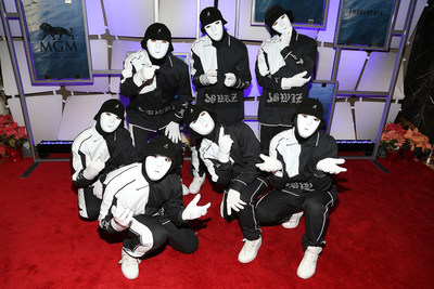 Hip-hop dance crew Jabbawockeez surprises guests with high-energy performance at the grand opening gala of MGM National Harbor on December 8, 2016.