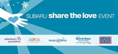 Subaru kicks off 5th annual Share the Love sales event.  (PRNewsFoto/Subaru of America, Inc.)