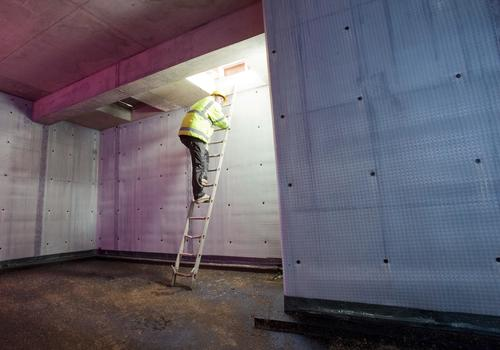 Walls lined with cavity drain membranes can keep floods at bay (PRNewsFoto/Triton Systems)