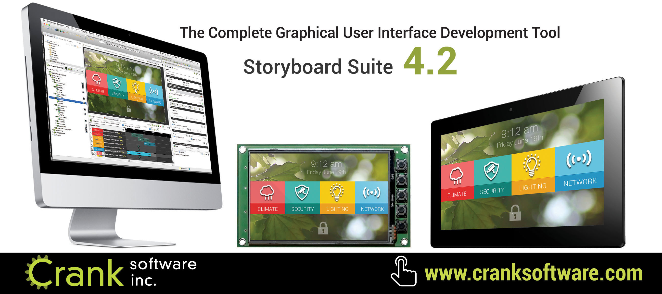 Crank Software Brings a New Level of Sophistication to Embedded UI Development with Storyboard