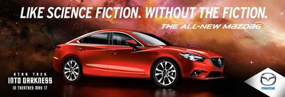 Mazda and Star Trek team up at New York International Auto Show.  (PRNewsFoto/Mazda North American Operations)