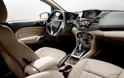 The interior of the 2014 Ford Fiesta is one of the most well-appointed and thoughtfully designed in the subcompact car class.  (PRNewsFoto/Hawkeye Ford)