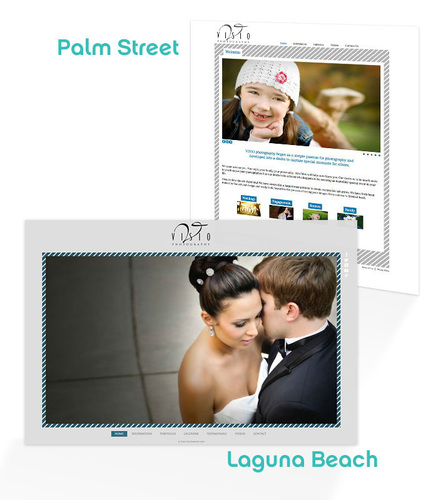 Laguna Beach and Palm Street are the latest HTML5 Designs from PhotoBiz.  (PRNewsFoto/PhotoBiz)
