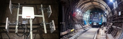 RADWIN base stations deployed inside the Moscow Metro tunnels