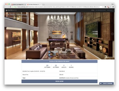 www.suiteness.com provides access to previously unseen luxury hotel suites