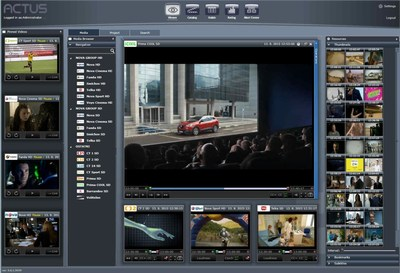 Actus View: the cost effective solution for broadcast and compliance monitoring, powerful multiple videos players, live or archived content, storyboard presentation for fast and accurate content retrieval.