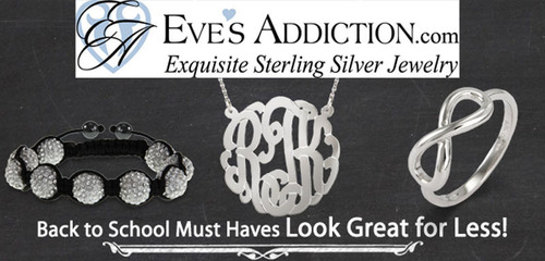 Sterling Silver Jewelry for Popular Back to School Styles from EvesAddiction.com.(PRNewsFoto/EvesAddiction.com)