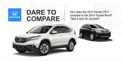 The Honda CR-V and Toyota Rav4 are fierce competitors on the crossover market.  (PRNewsFoto/Honda Manhattan)