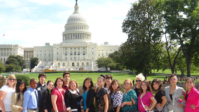 Denver Latino high schoolers visit D.C. to meet with their elected officials, White House staff, representatives of the Department of Interior and the National Parks Service to advocate for the protection of Browns Canyon in Colorado.  (PRNewsFoto/Hispanic Access Foundation)